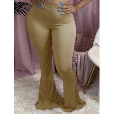 Lovely Casual Basic Skinny Light Tan Pants