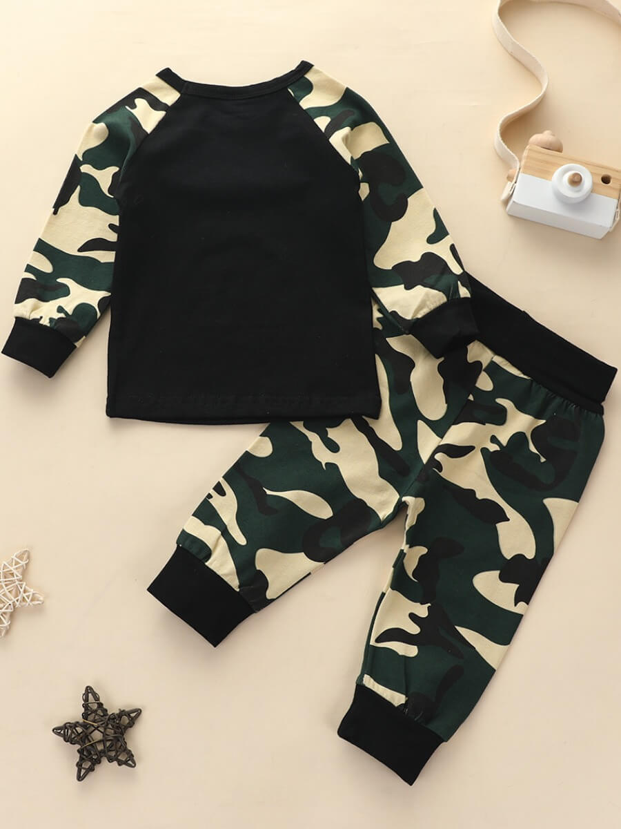 Lovely Casual O Neck Camo Print Patchwork Army Gre