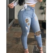 Lovely Street Patchwork Baby Blue Jeans