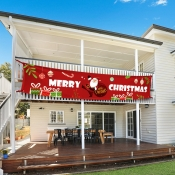 Lovely Christmas Day Print Red Decorative Wall Clo
