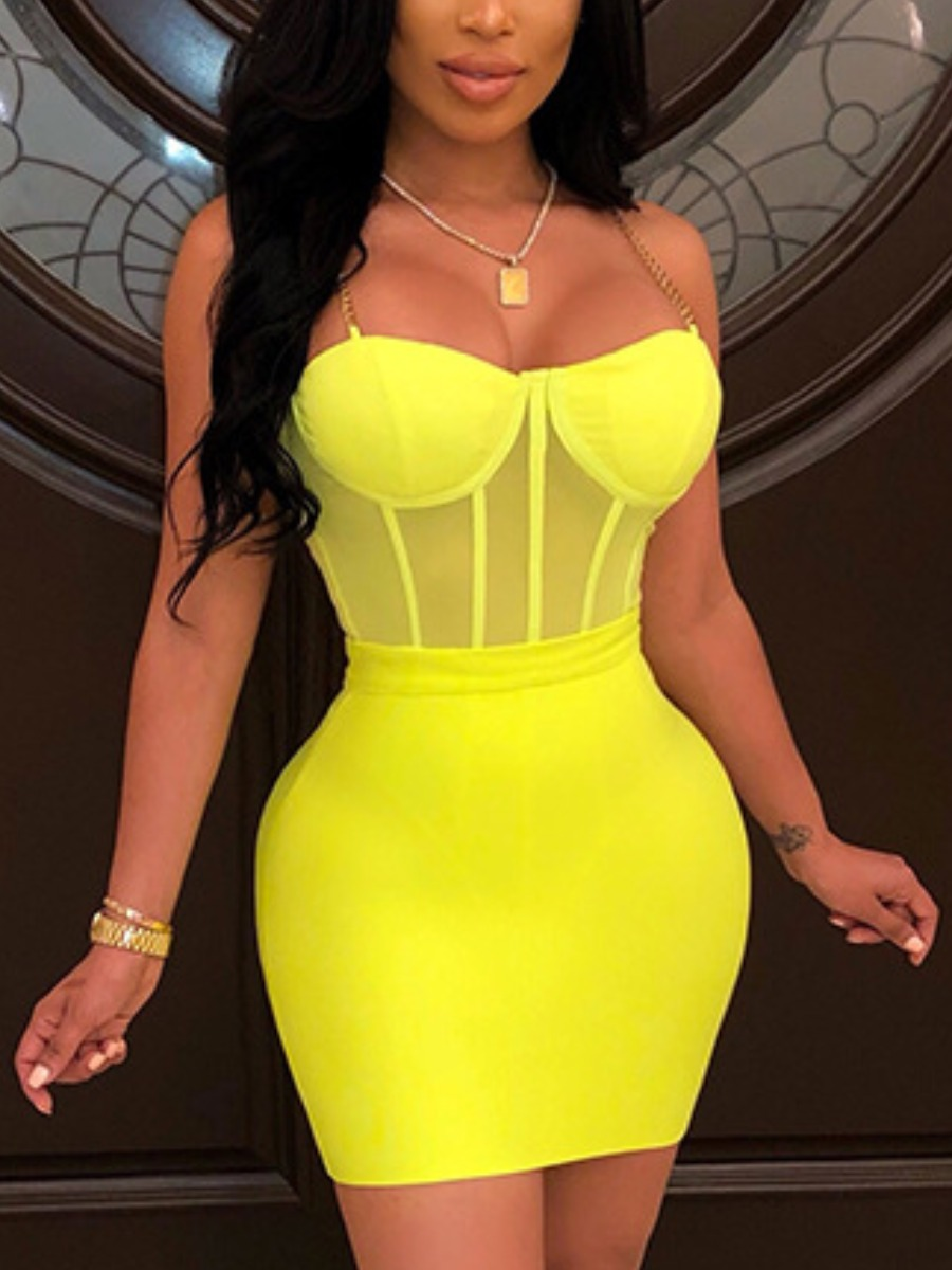 Lovely Sexy Metal Accessories Decoration Yellow Tw
