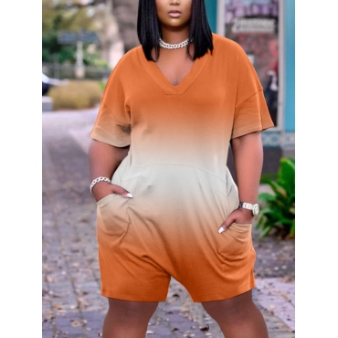Lovely Casual Dropped Shoulder Gradient Croci One-